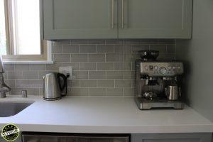 Kitchen counter and tile backsplash